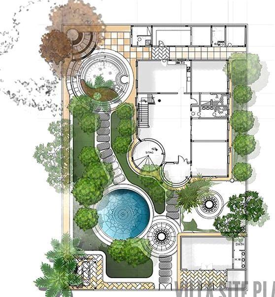 Siteplan And Landscape Design For Private Villa In Qatar In 2020 Site Plan Design Landscape Design Drawings Landscape Architecture Design
