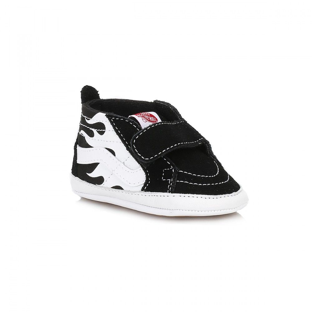 28c272bf85dc7 Vans Infants Sk8-Hi Crib Glow Black True White Trainers