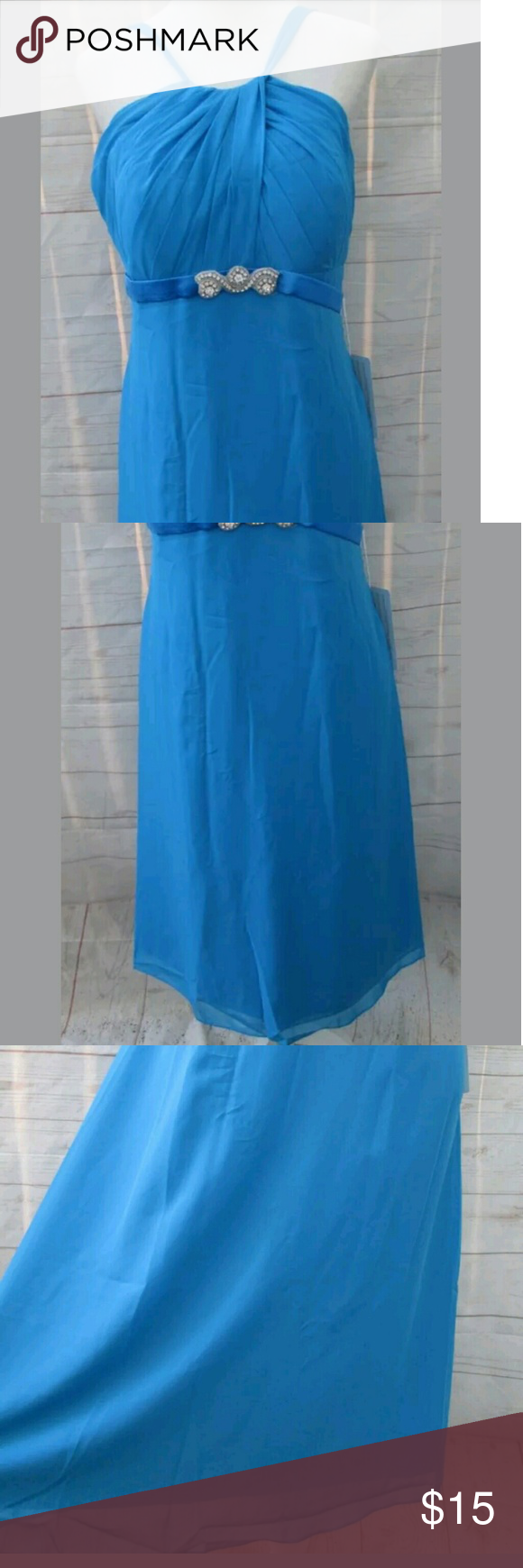 Teal blue formal bridesmaid dress new boutique