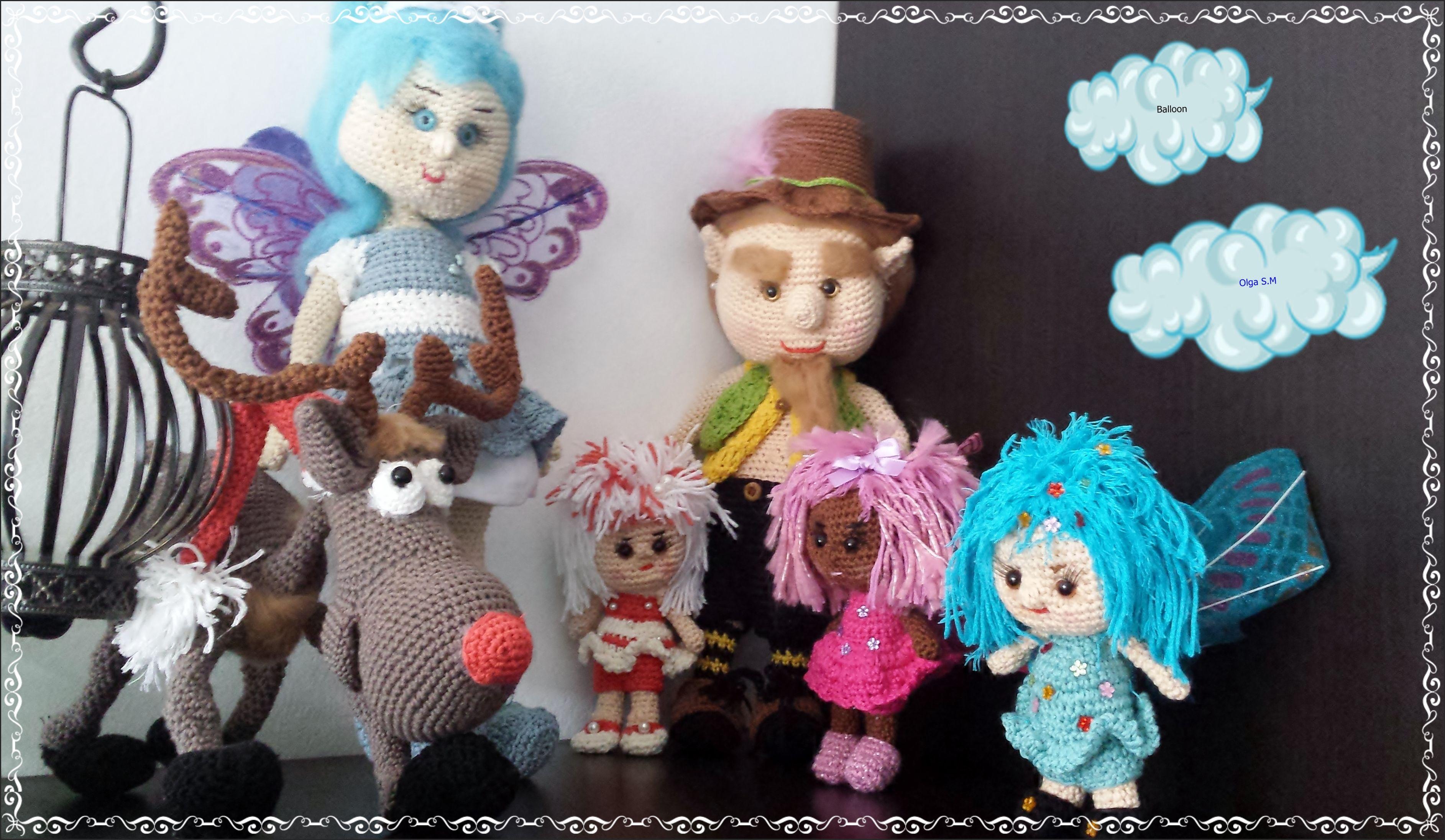Amigurumi Crochet Personajes : Personajes de fantasia patrón de hadas elfo crochet dolls