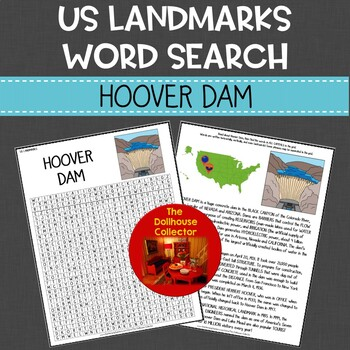 US Landmarks Word Search Puzzle HOOVER DAM Social