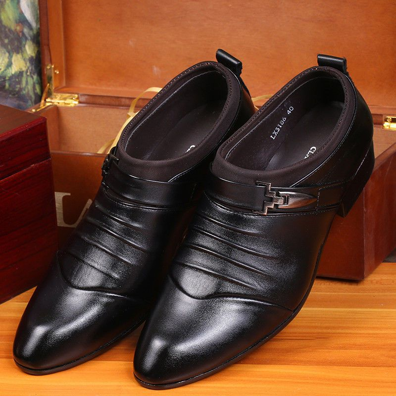 New Men's Formal Wedding Oxfords Casual Leather Shoes Pointed Toe Dress  Shoes/**