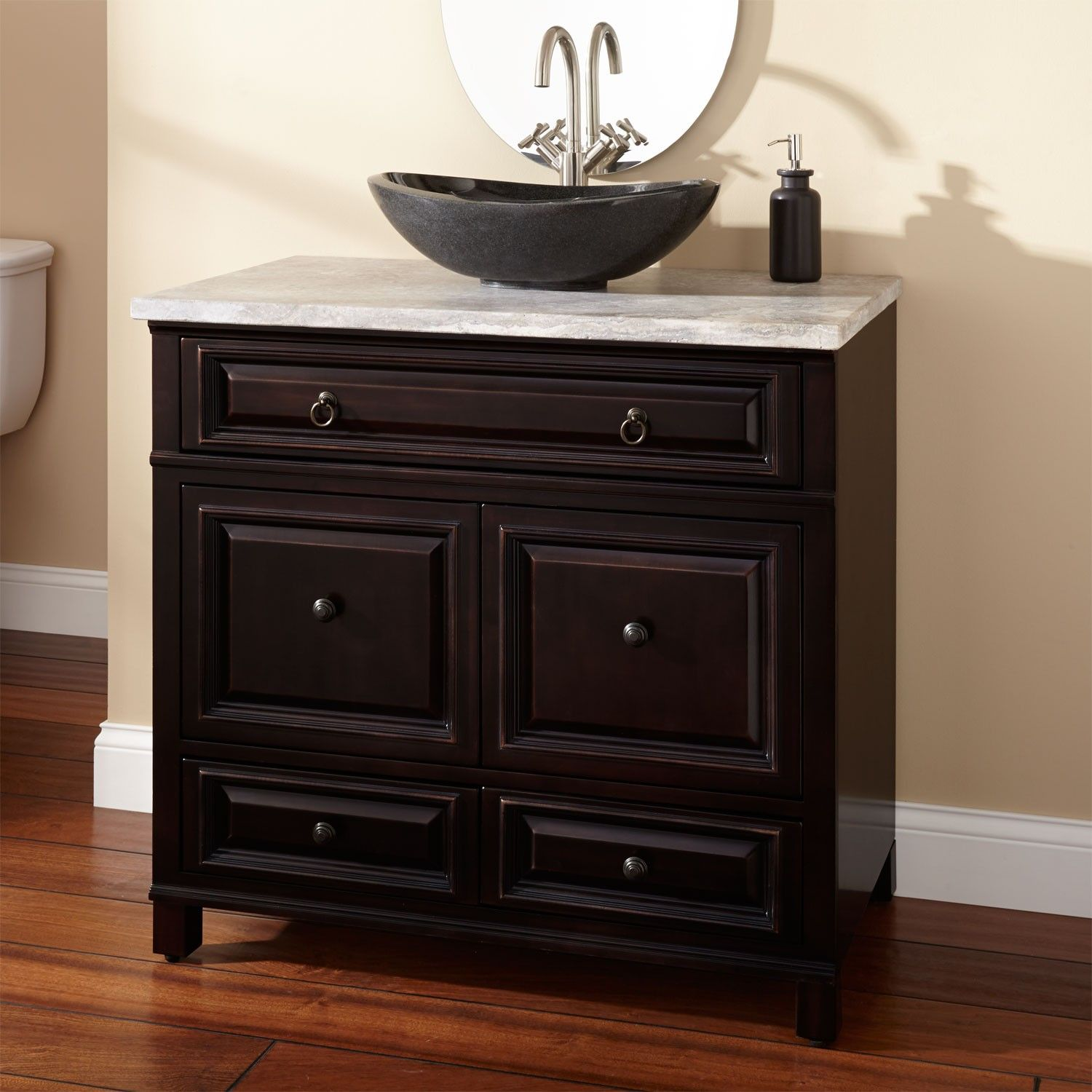36 Orzoco Black Vessel Sink Vanity Bathroom Vanities Bathroom