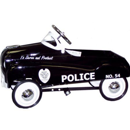InStep steel Police Retro Pedal Car Ride-on Toy, Black - Walmart.com