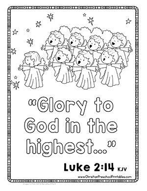 Christmas Bible Verse Printables Christian Preschool Printables Christmas Sunday School Christmas Sunday School Lessons Sunday School Preschool