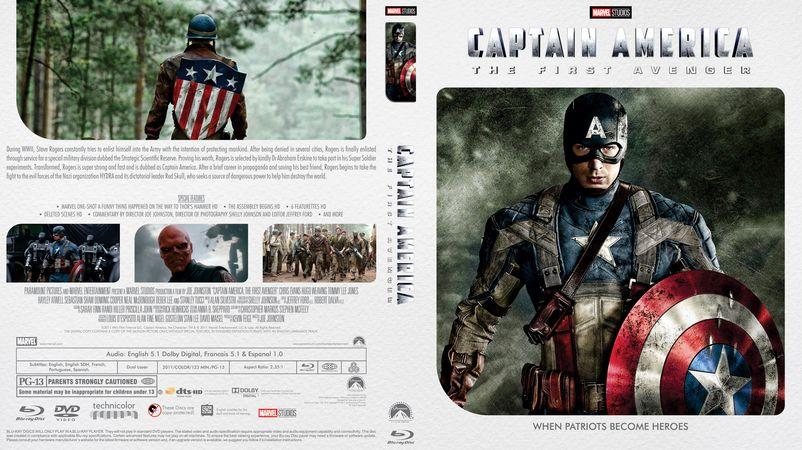 Captain america the first avenger 2011 bluray custom