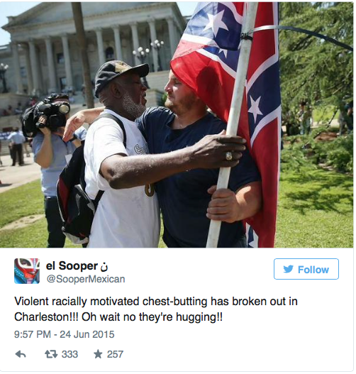 twitter-conf-flag In spite of their best efforts, race baiters have yet to incite the violence they had hoped in Charleston, S.C.