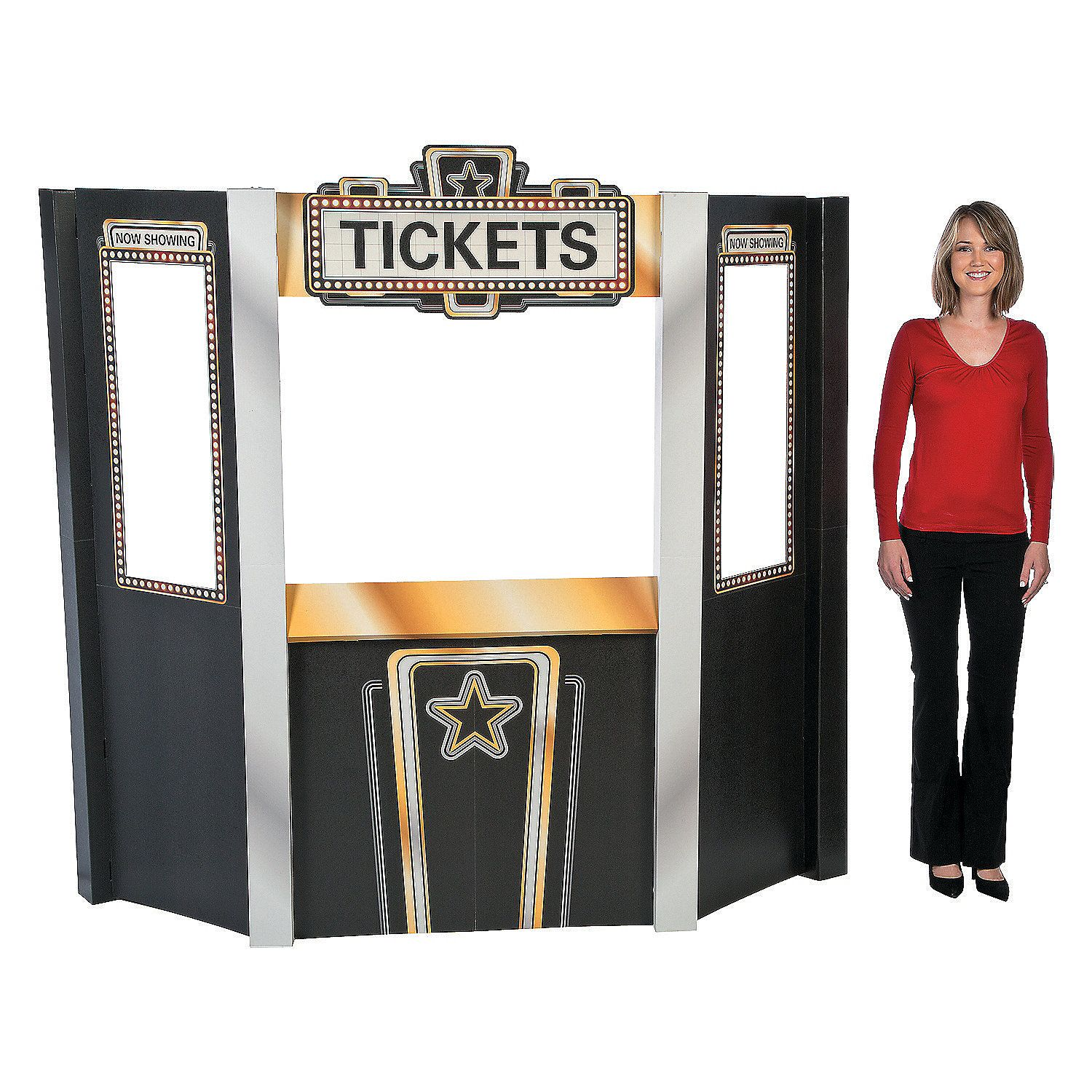 movie night theater ticket booth cardboard stand up pinterest