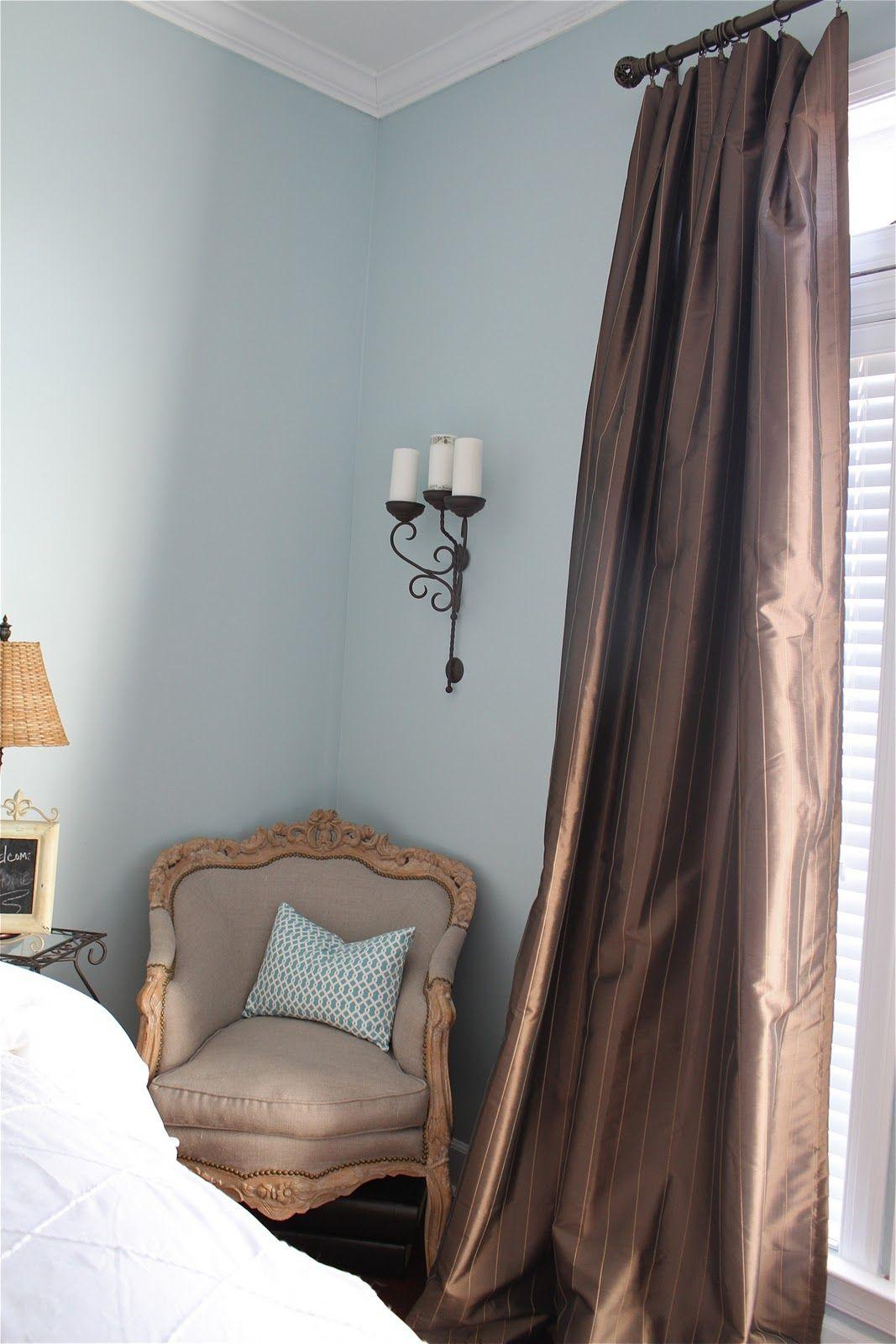 Guest Bedroom Reveal Love The Paint Valspar Misty Surf