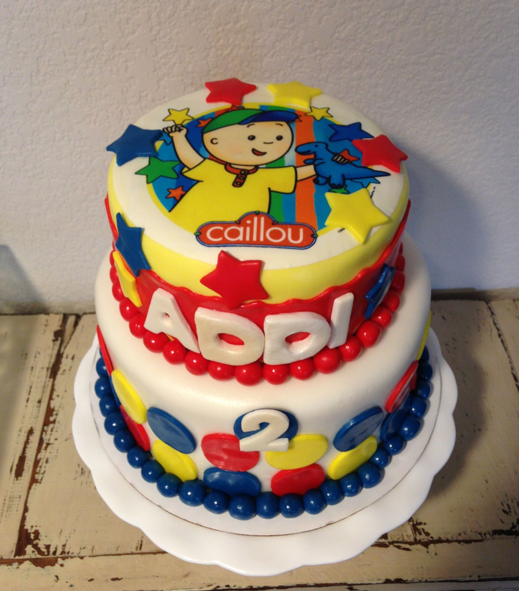 Caillou Birthday Cake KJ Takes The Cake Pinterest Caillou