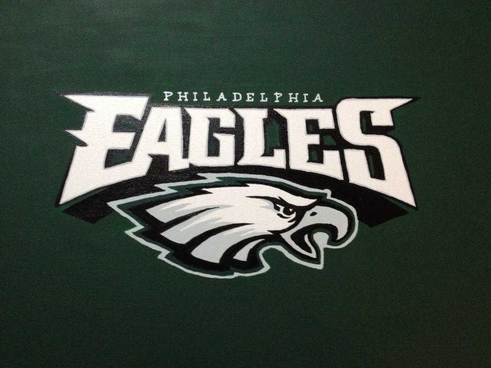 Painted NFL canvas. The Philadelphia Eagles. #nfl #eagles #art ...