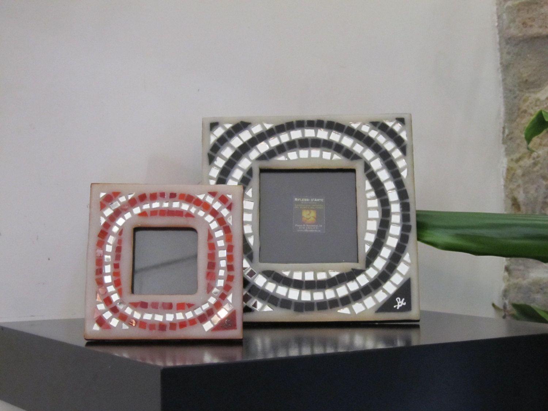 Portafoto In Vetro.Cornici Portafoto A Mosaico Di Vetro Fatti A Mano Ideali