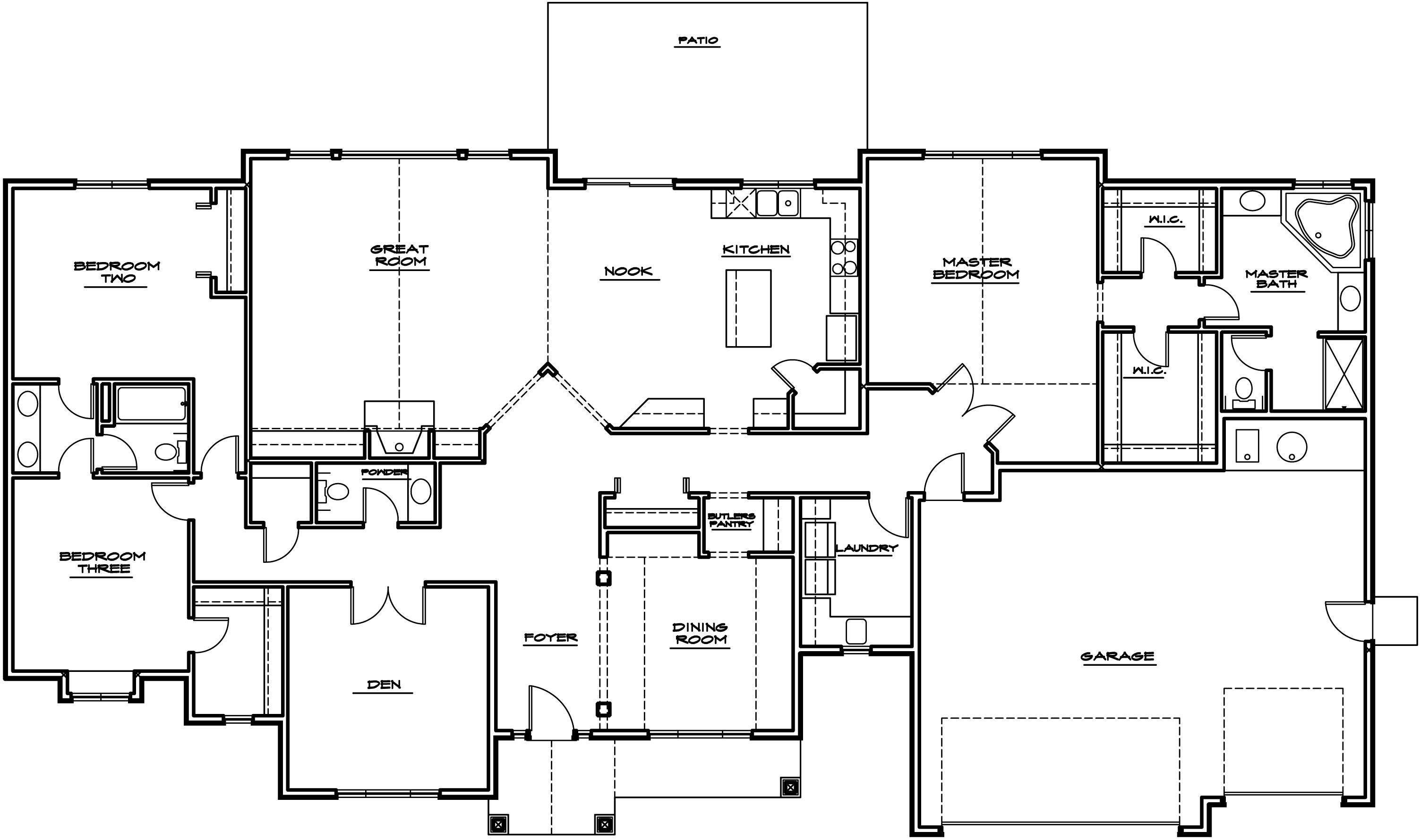 Rambler House Plans Rambler House Plans Rambler House Plans Basement House Plans Porch House Plans