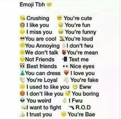 ϯyiiqyesoylϯ Emoji Tbh L Love You Youre Cute