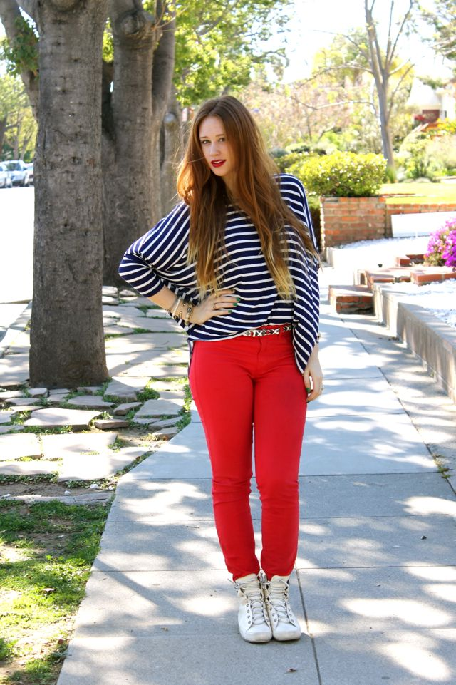 Tracy from exploRED in LA in J Brand jeans