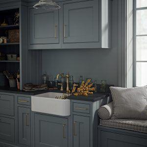 Best Ex Display Bespoke Painted Kitchen With Island Larder 400 x 300