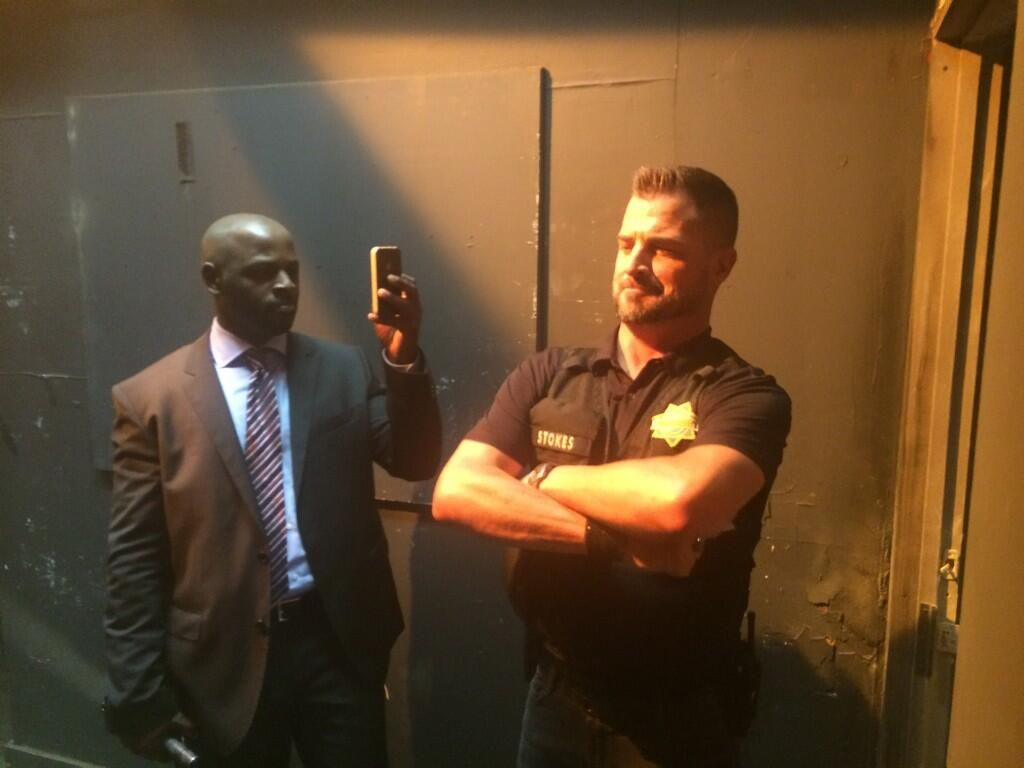 RT @waldeckvision: Having some fun on #csi with @AlimiBallard and #georgeeads pic.twitter.com/JMc9k1twTi