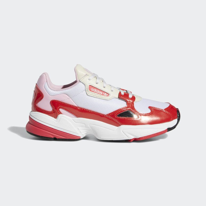 Falcon Shoes Crystal White / Active Red