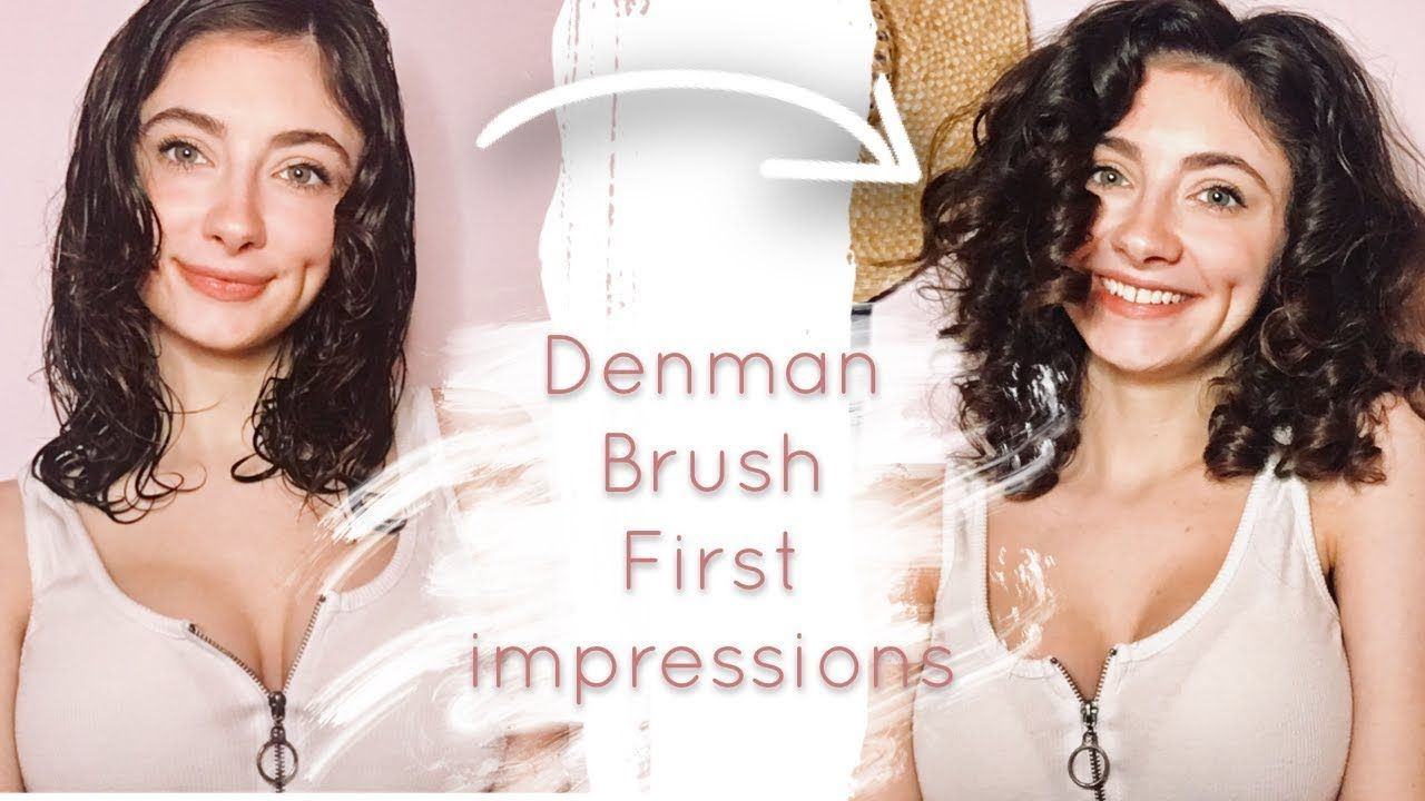Denman Brush First Impressions On Wavy/Curly Hair Curl