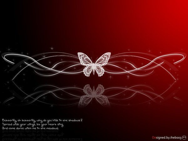 Red butterfly by iheb003