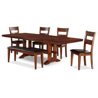 Ensemble de salle manger magnus 6 pi ces avec banc for Ensemble salle a manger avec banc