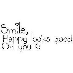 SMILE ☺  Happy looks good on you :)