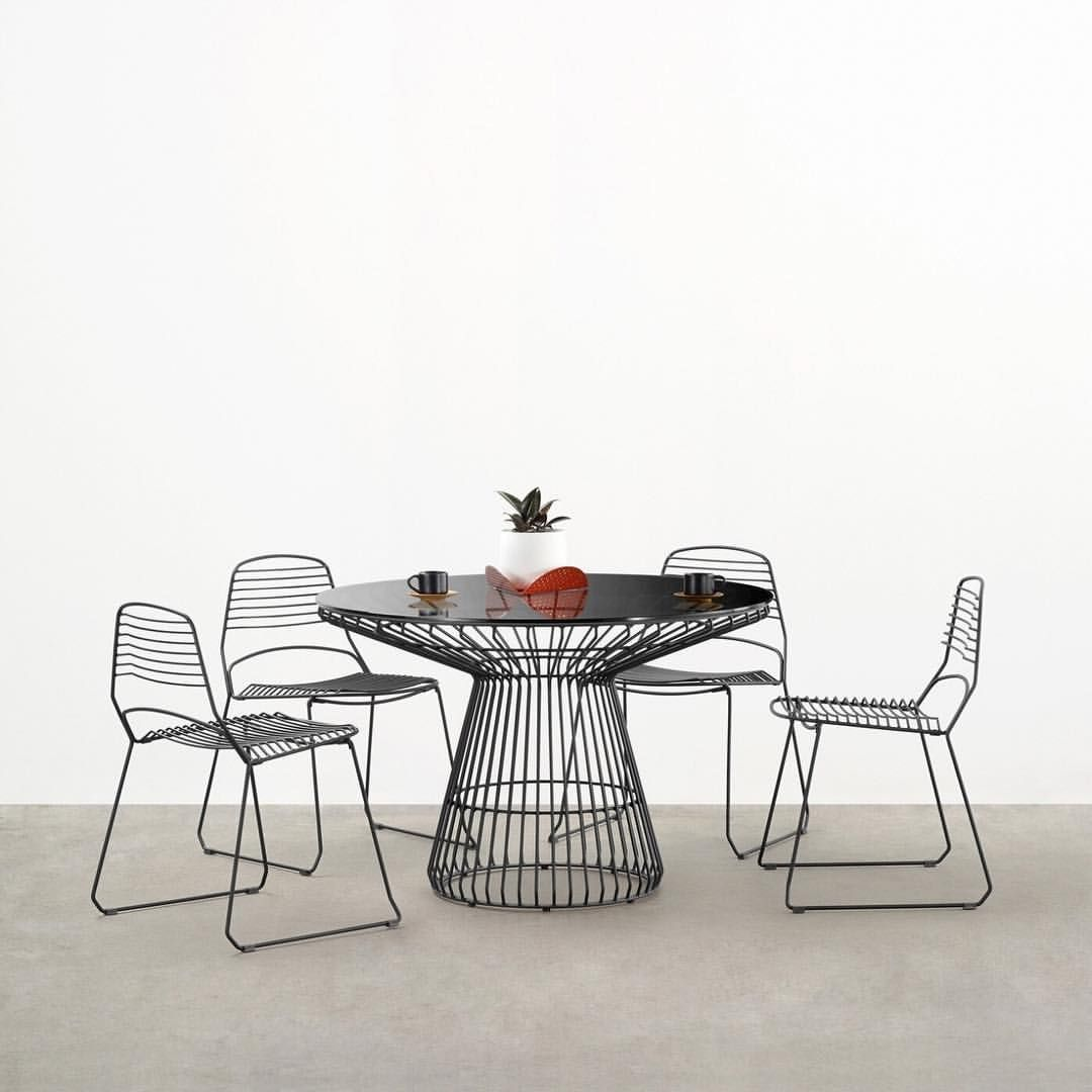 Jil table with grey tinted glass top from tait australia tables