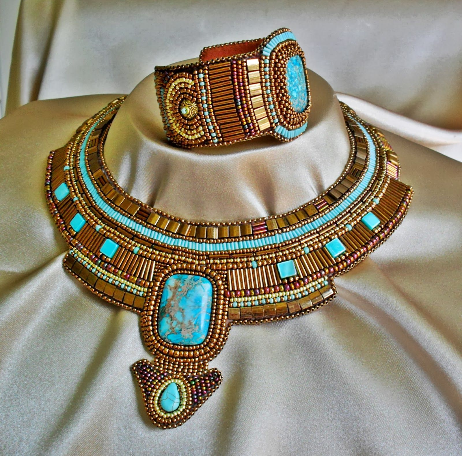 Böbe Ikotics, Nefertiti Necklace and Bracelet
