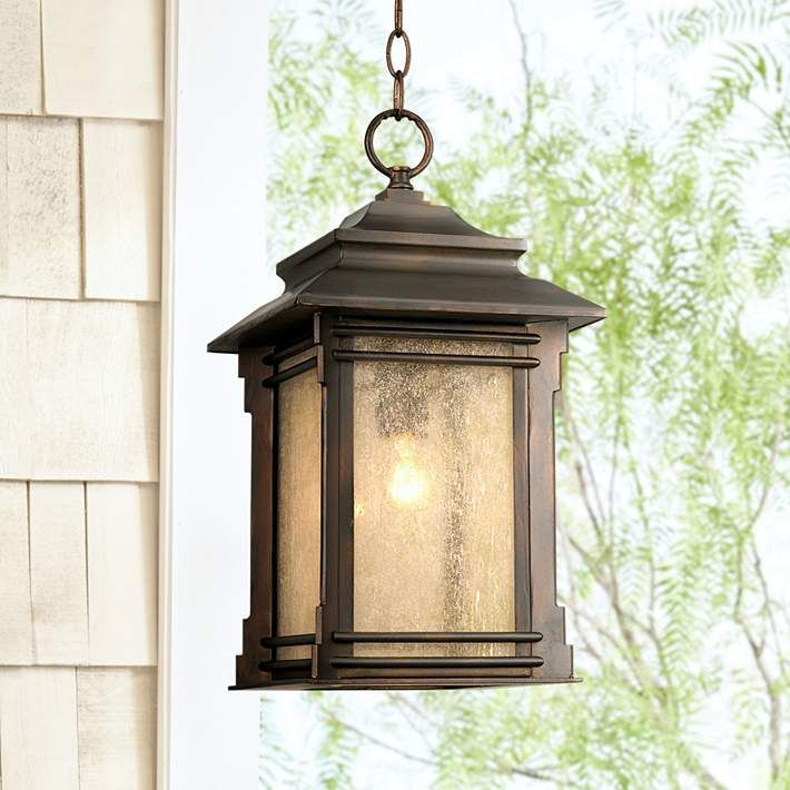 Franklin Iron Works Hickory Point 19 1 4 H Outdoor Light 09655