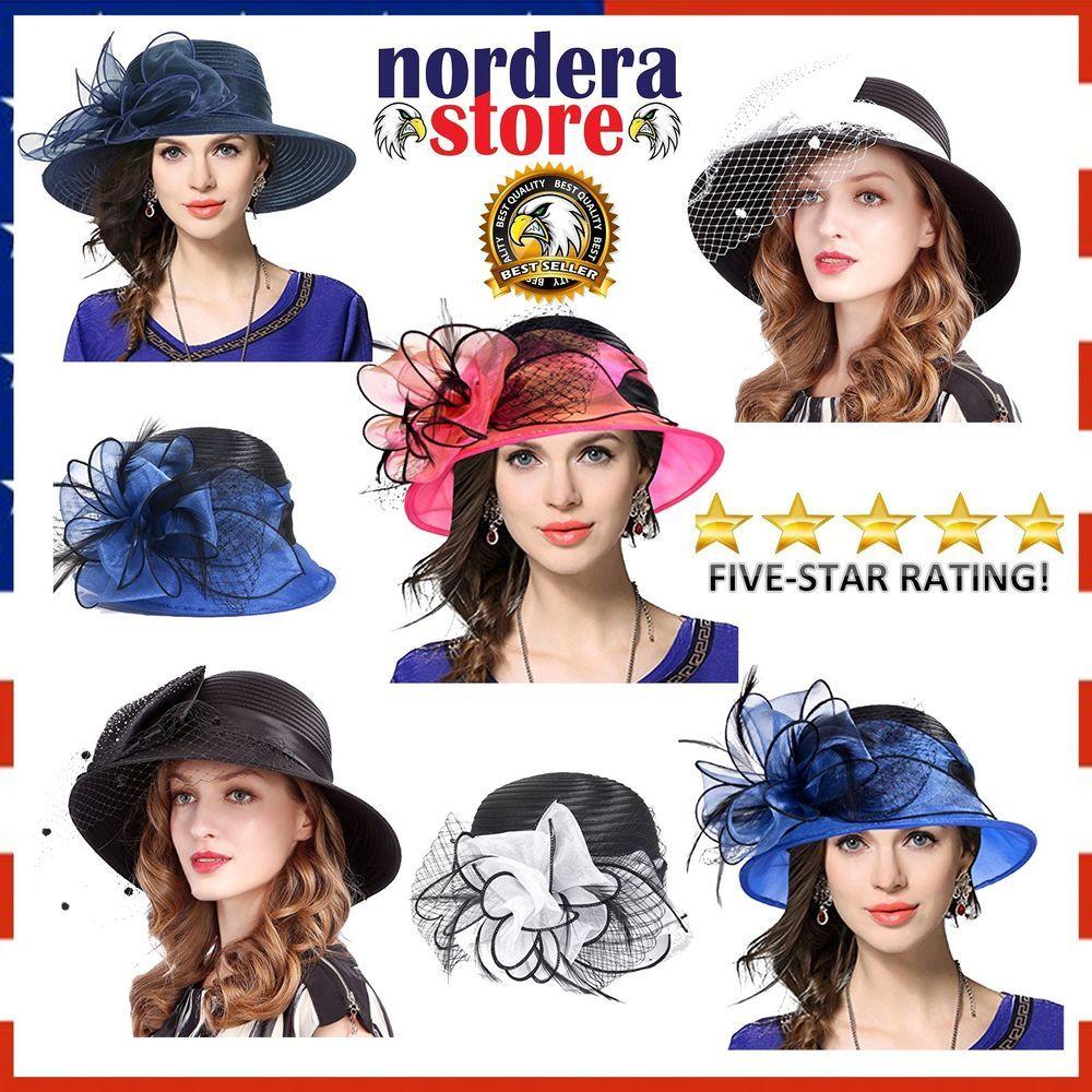 05a98249ccc Kentucky Derby Dress Organza Church Cloche Hat Sweet Cute Floral Bucket Hat  NEW  VECRY