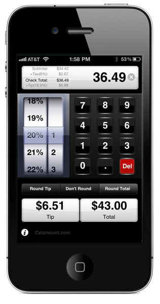checkplease iphone app the ultimate tip calculator enter tax