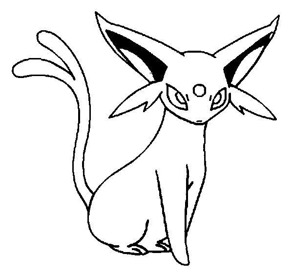 Espeon Pokemon Coloring Pages Pokemon Coloring Pokemon Sketch