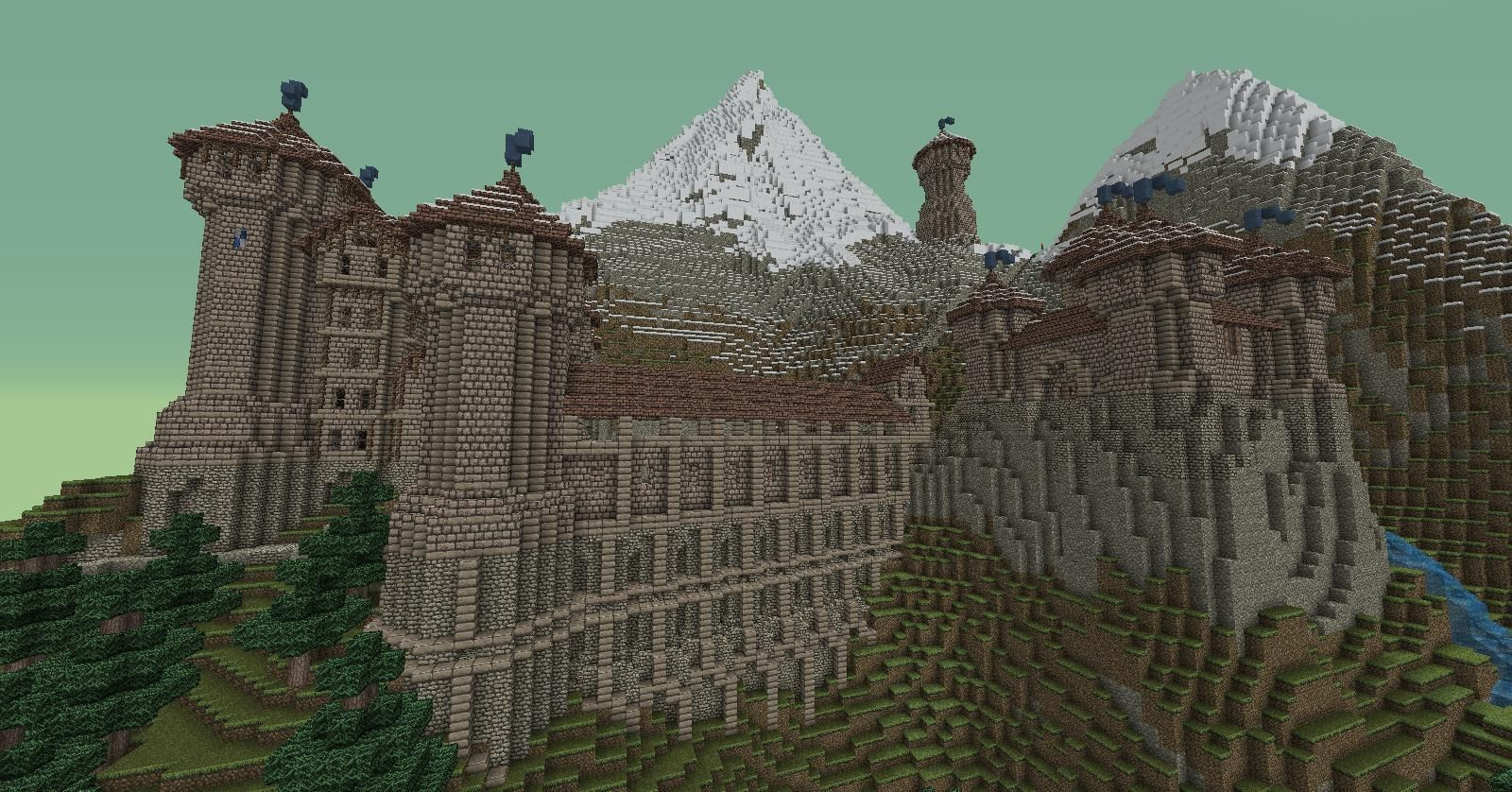 Minecraft mountain base google search minecraft for How to build a house in a mountain