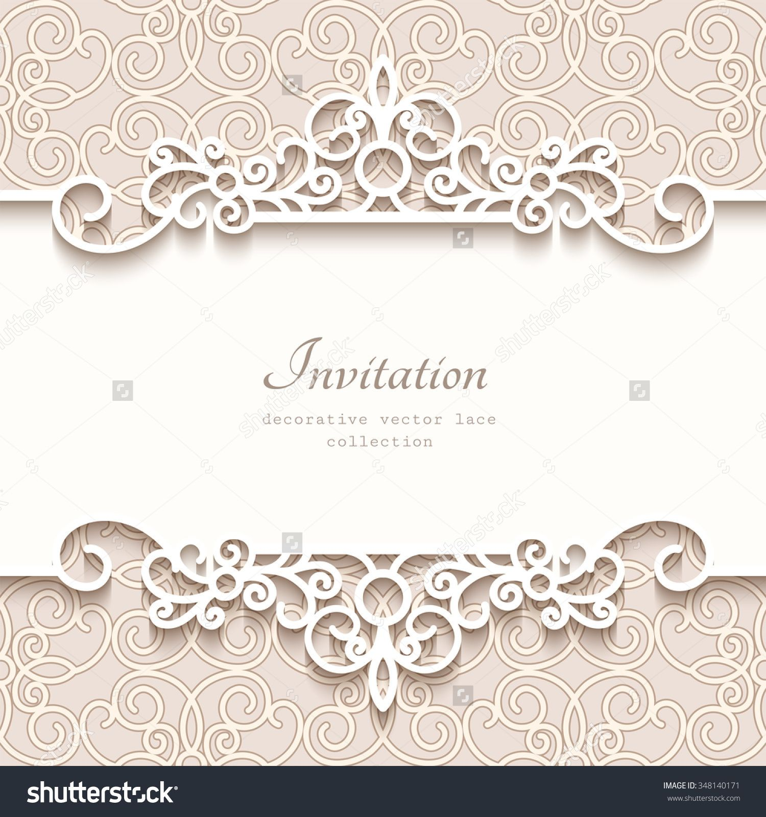 Vintage Vector Background With Paper Border Decoration, Divider, Header,  Ornamental Frame Template,  Paper Border Designs Templates