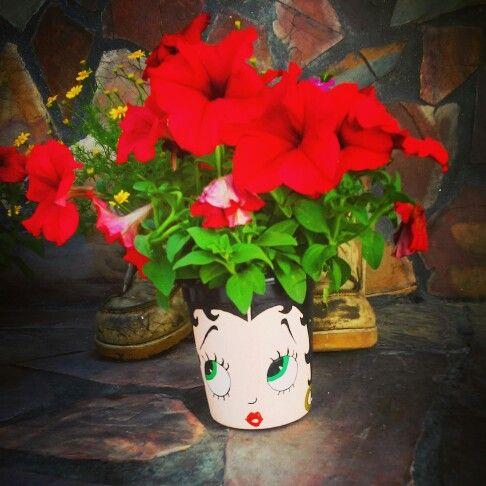 Betty boop flower pot