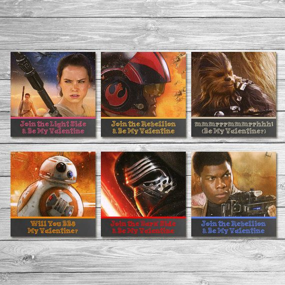 Star Wars Force Awakens Valentine's Day Cards by ItsACowsOpinion