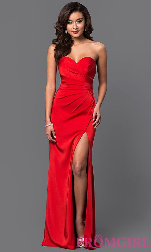 8c0c659806 Image of strapless sweetheart long formal evening gown. Style  FA-7891  Front Image