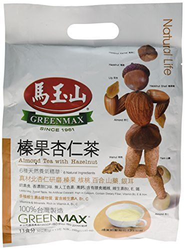 Great Greenmax - Almond Tea With Hazelnut (Pack of 1), ,