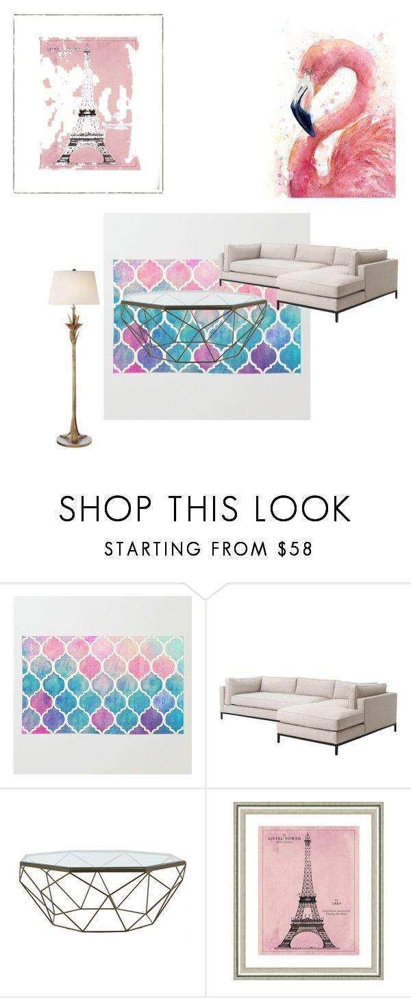 """""""Living room"""" by chynadoll125 ❤ liked on Polyvore featuring interior, interiors, interior design, home, home decor, interior decorating, Jayson Home, Vintage Print Gallery, AERIN and living room"""