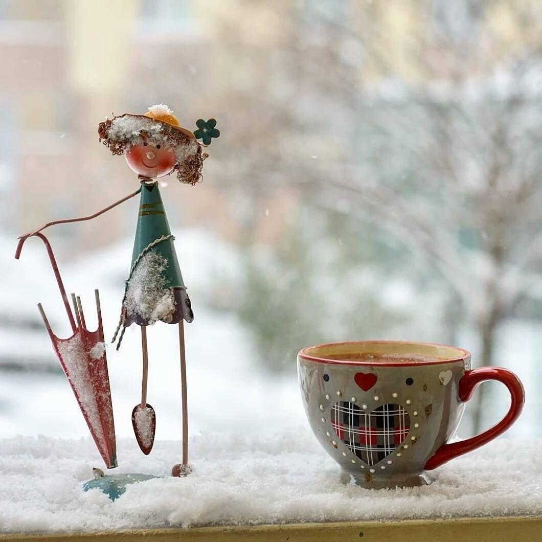 Доброе утро картинки необычные прикольные смешные зимние