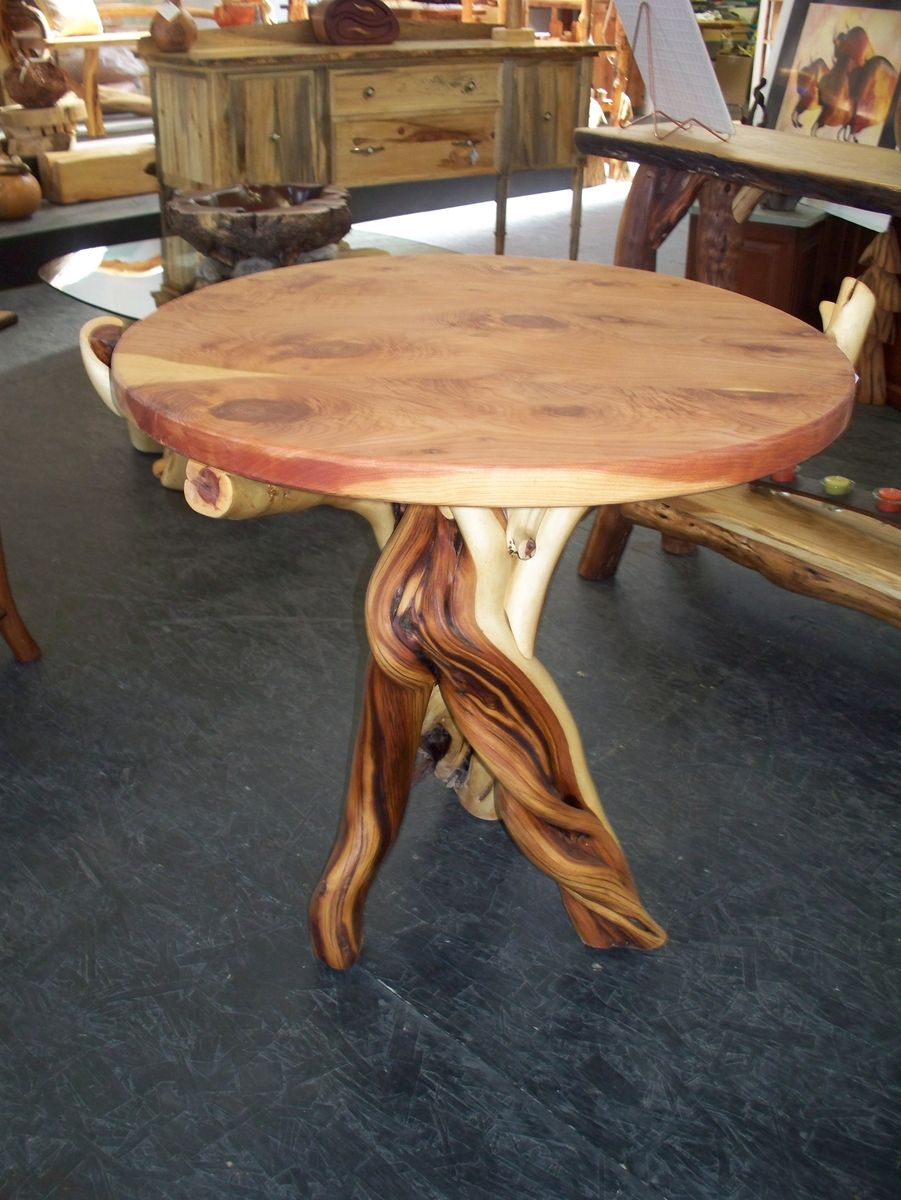 Round Center Piece Twisted Juniper Table Wood Table Legs Diy Table Legs Wood Table