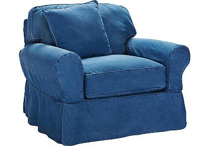 Best Cindy Crawford Home Beachside Blue Denim Chair Denim 400 x 300
