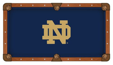 Notre Dame Tailgating And Man Cave Pool Table Cloth Fighting Irish Notre Dame Fighting Irish