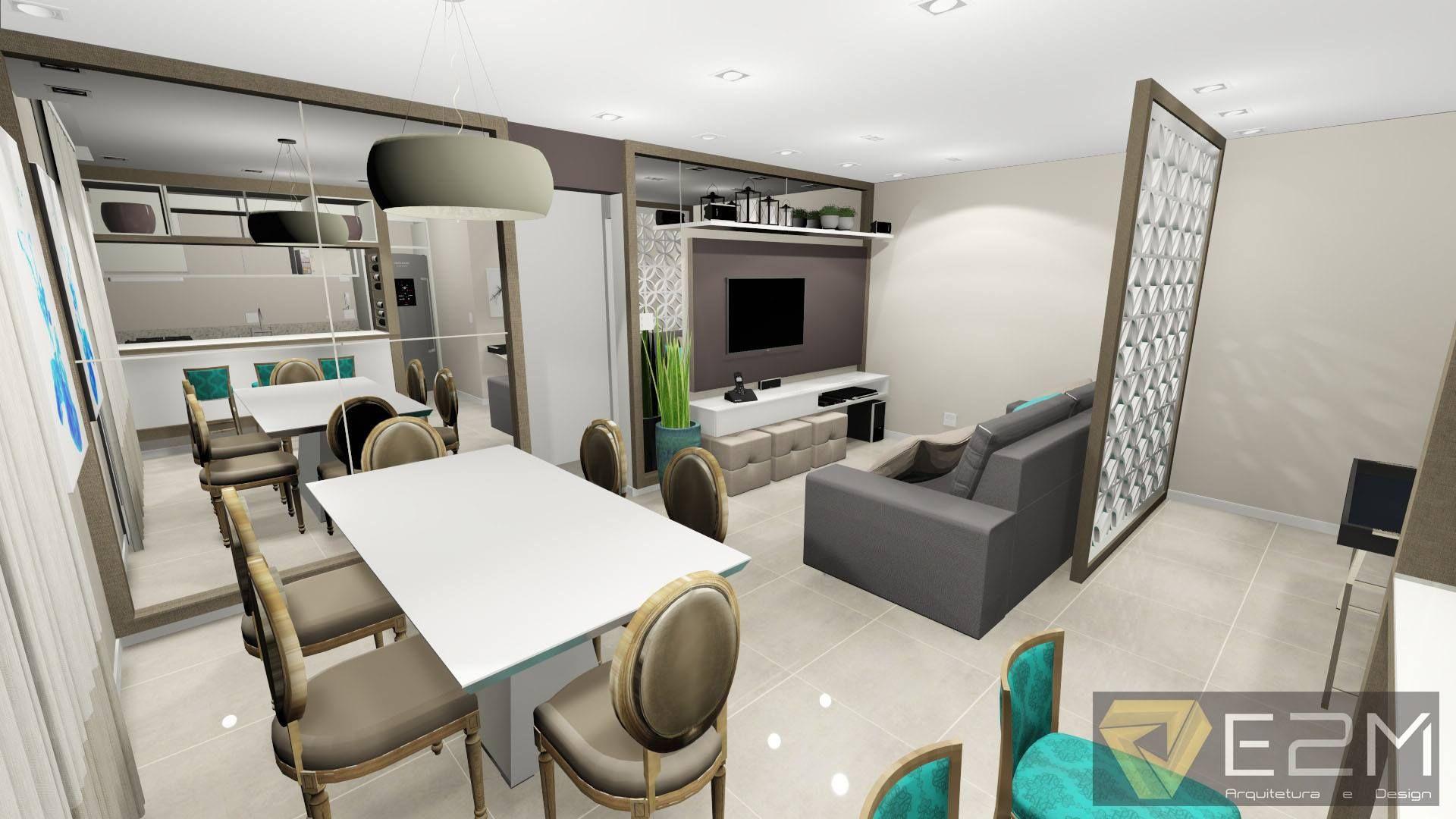Apartamento B&D. Imagem: E2M Arquitetura e Design.