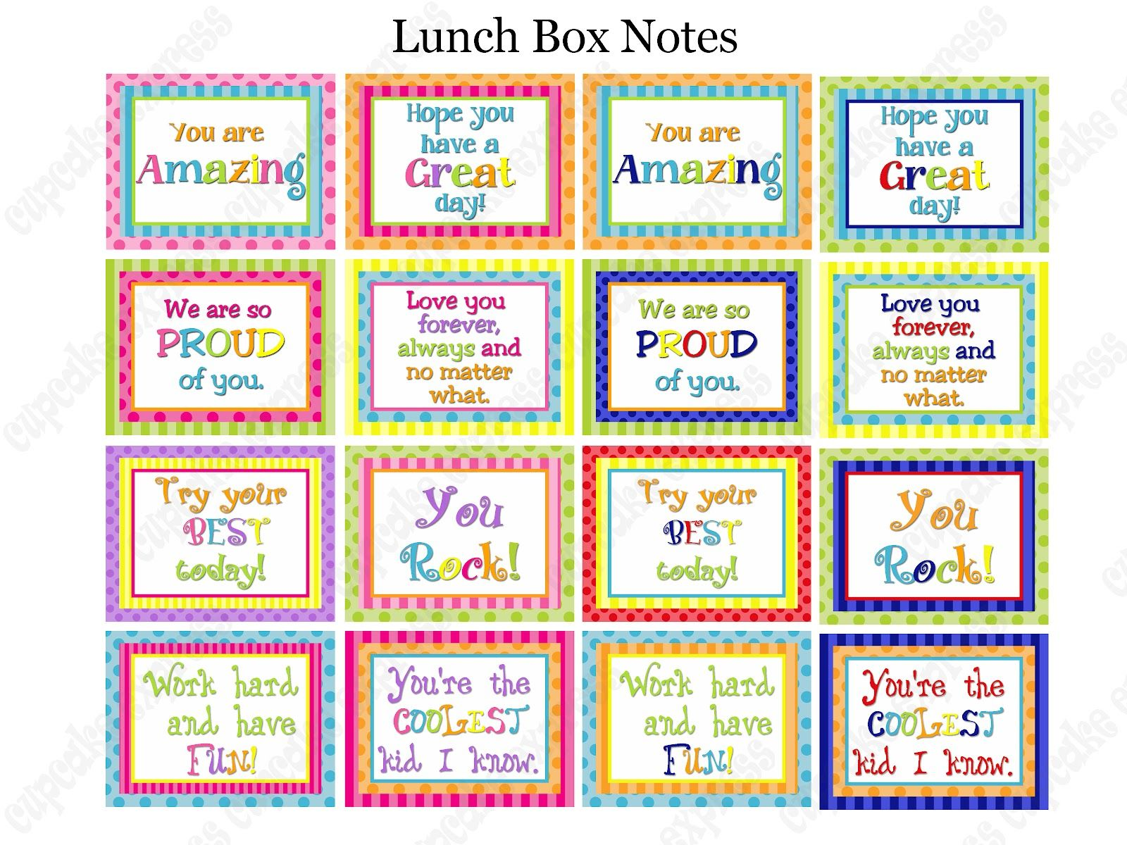 It is an image of Dynamic Lunch Notes Ideas