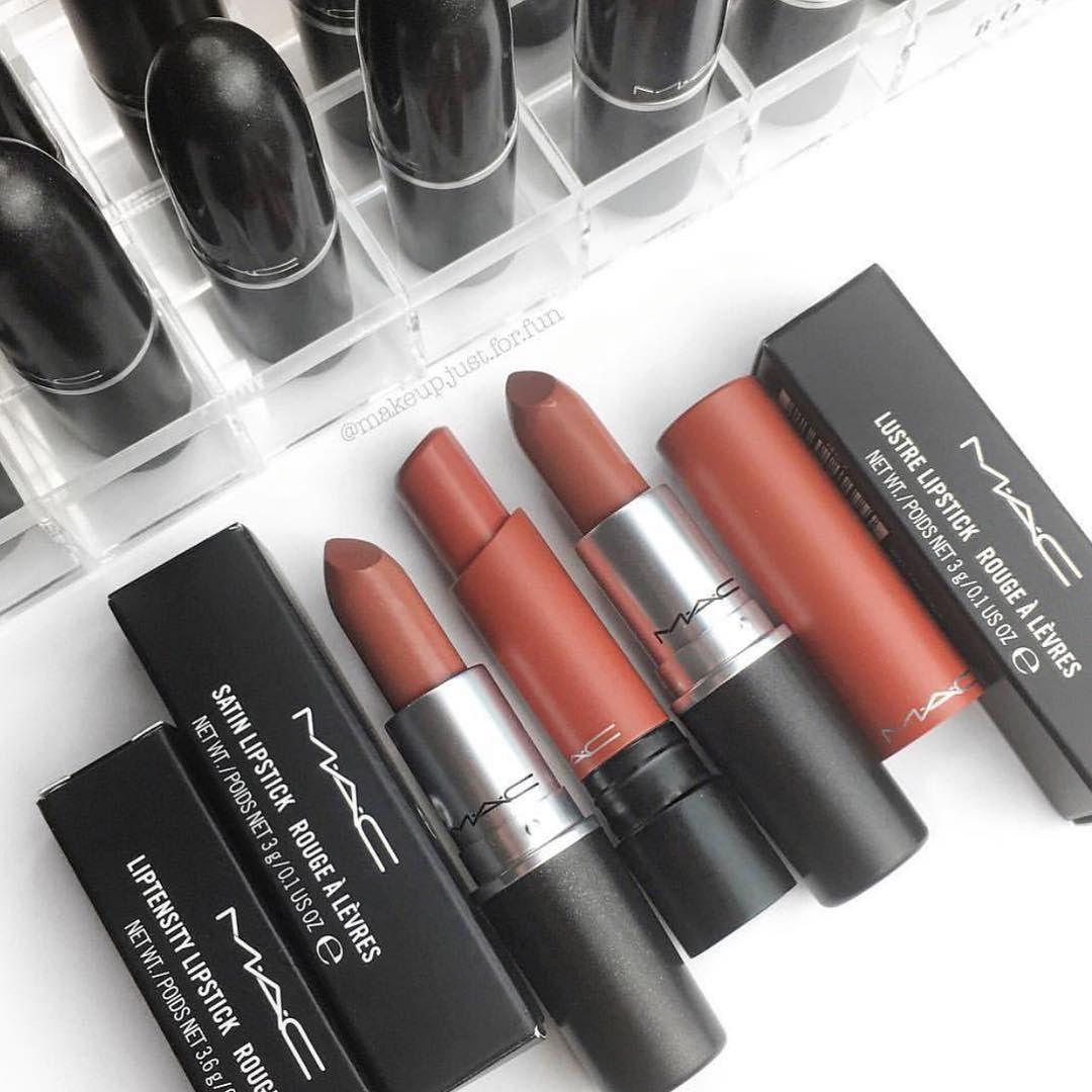 100 Mac Lipsticks Are Awesome – Hug Me, Smoked Almond, Del Rio #mac #maclipstick #lipstick