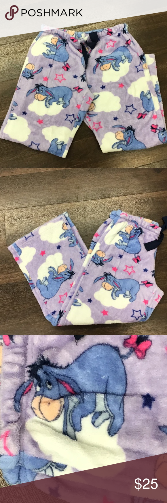 Disney Eeyore Small 4-6 Pajama Pants, Adult Size | Pajama ...