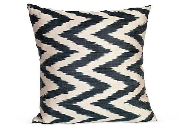 Erin Taylor silk chevron pillow from one kings lane