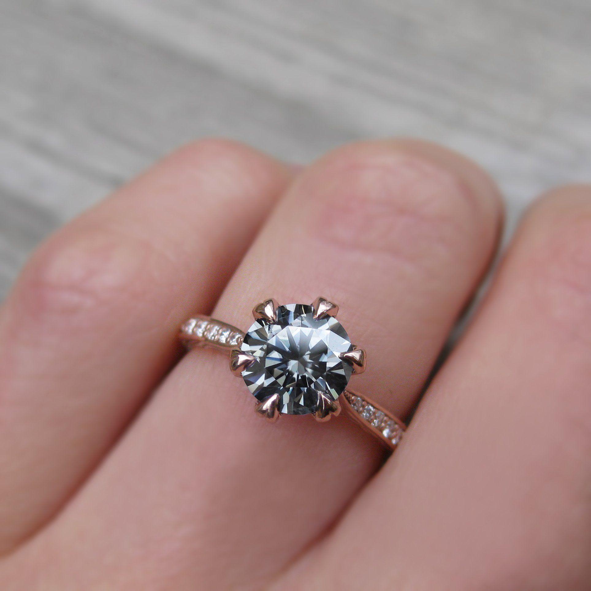 Grey Iconic™ Moissanite & Diamond Engagement Ring | Kristin Coffin ...