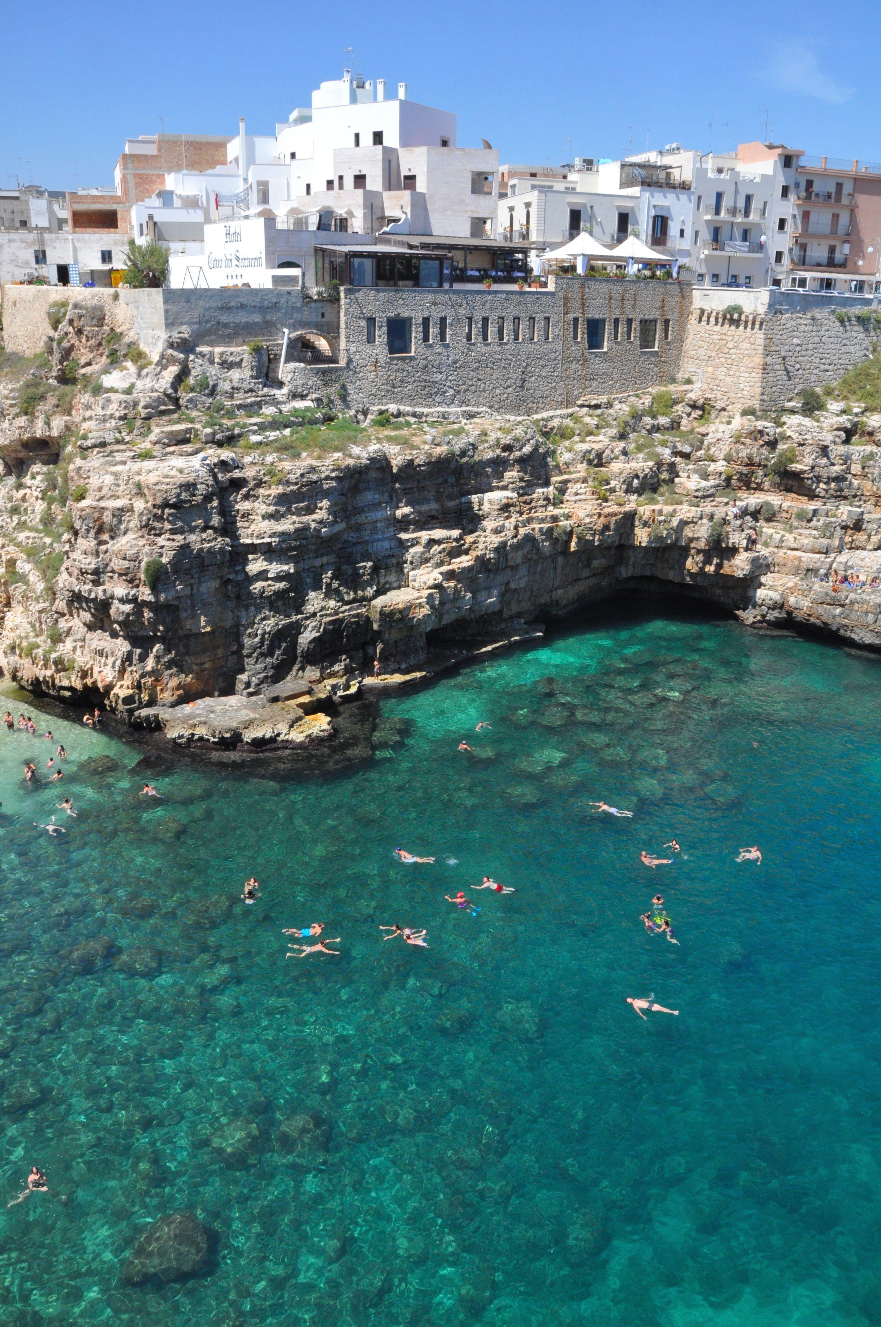 Polignano A Mare And Beach Puglia Italy
